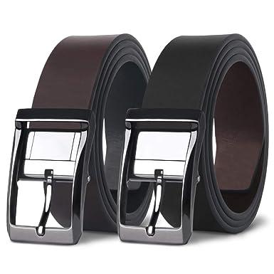 Premium-Auswahl heiße neue Produkte detaillierter Blick MR Gürtel Herren Leder Wendegürtel in Schwarz und Braun für Männer  Ledergürtel Beidseitig Tragbar aus Leder 33 mm