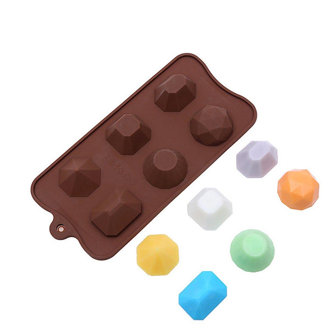 Amazon.com: Yunko 3d Gem Diamond Cool Ice Cube Chocolate Soap Tray ...