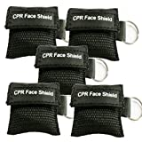 Pack of 5pcs CPR Face Shield Mask Keychain Ring