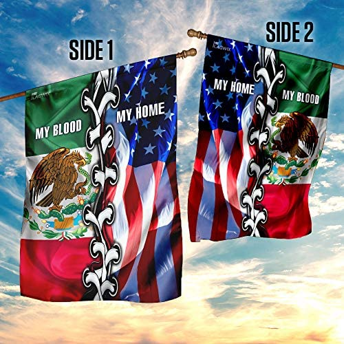 My Home My Blood Flag THH2298F Garden and House Flag Mexican American