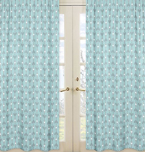 Sweet Jojo Designs 2-Piece Arrow Print Window Treatment Panels for Earth and Sky Collection