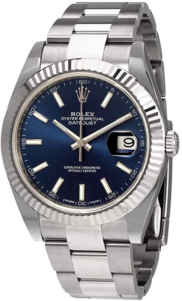Rolex Oyster Perpetual Datejust 41 Blue Dial Automatic Men's Watch 126334BLSO