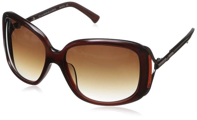 5537f3b7ee98 O by Oscar de la Renta Eyewear Women's SSC5076 Rectangular Sunglasses,Brown,174  mm