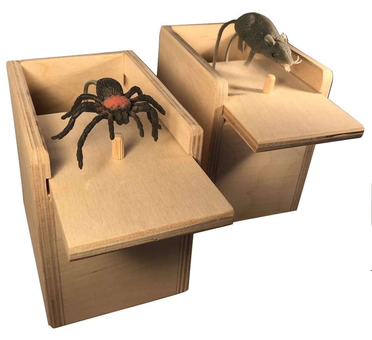 Saving Shepherd Mouse & Spider Surprise Box ~ 2 USA Handmade Fun Prank Gag Gifts by Saving Shepherd