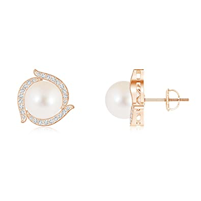 Angara Freshwater Cultured Pearl Pinwheel Stud Earrings x9dU9