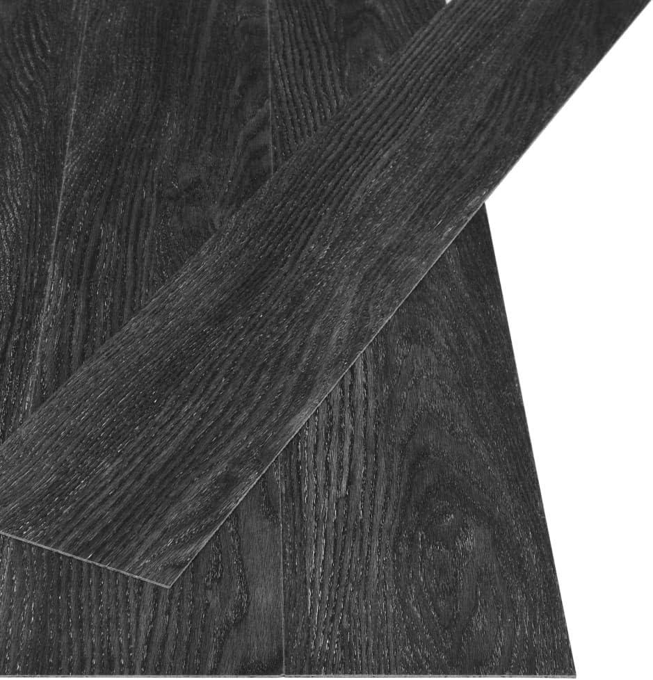 vidaXL PVC Laminat Dielen Rutschfest Vinylboden Vinyl Boden Planken Bodenbelag Fu/ßboden Designboden Dielenboden 5,26m/² 2mm Gestreift Braun