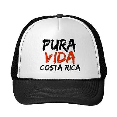 Image Unavailable. Image not available for. Color  Funny Orange Pura Vida  Costa Rica Trucker Hat 7afa3c2cc61