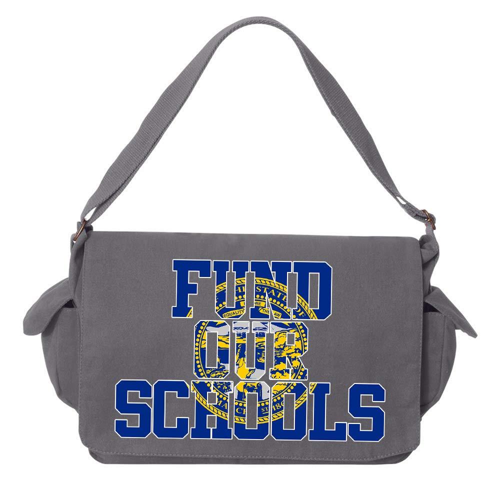 Tenacitee Fund our Nebraska Schools Maroon Brushed Canvas Messenger Bag