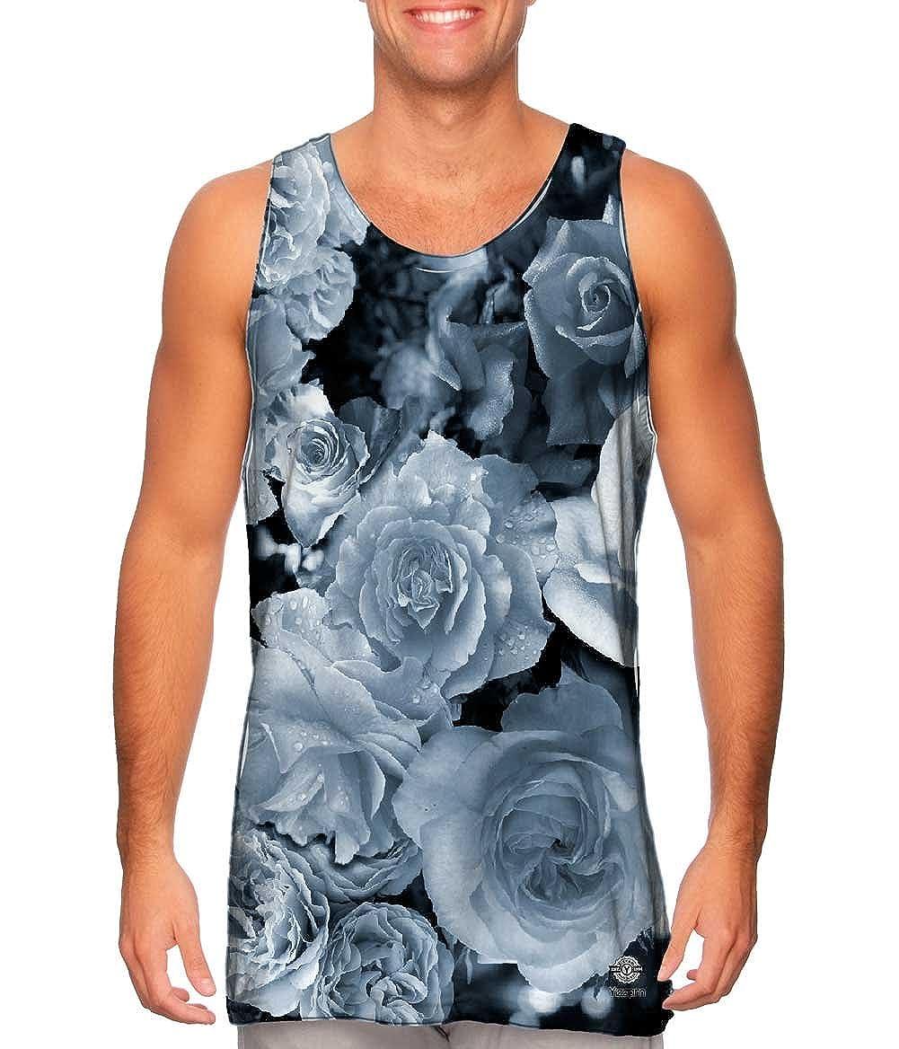 Mens Tank Top Tshirt Gray Day Rose Bouquet Yizzam-