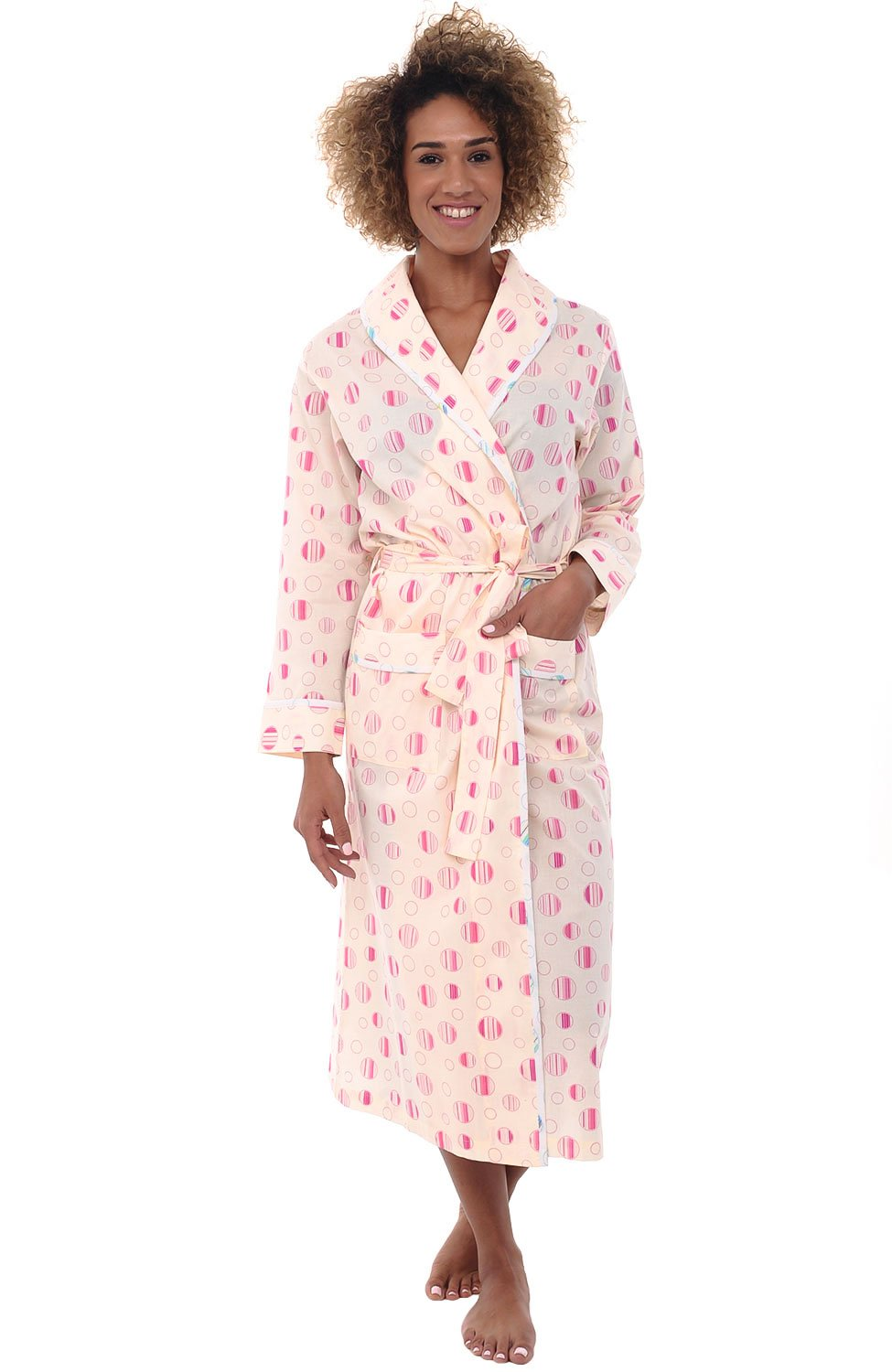 Galleon - Alexander Del Rossa Womens Cotton Robe 7526affd8