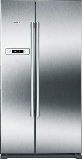 Siemens KA90NVI20 nevera puerta lado a lado - Frigorífico side-by-side (Independiente, Acero inoxidable, Puerta americana, 573L, SN, T, 44 Db): Amazon.es: ...