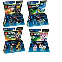 Lego Dimensions The LEGO Movie Themed Bundle - Emmet 71212, Bad Cop 71213, Benny 71214, and UniKitty 71231
