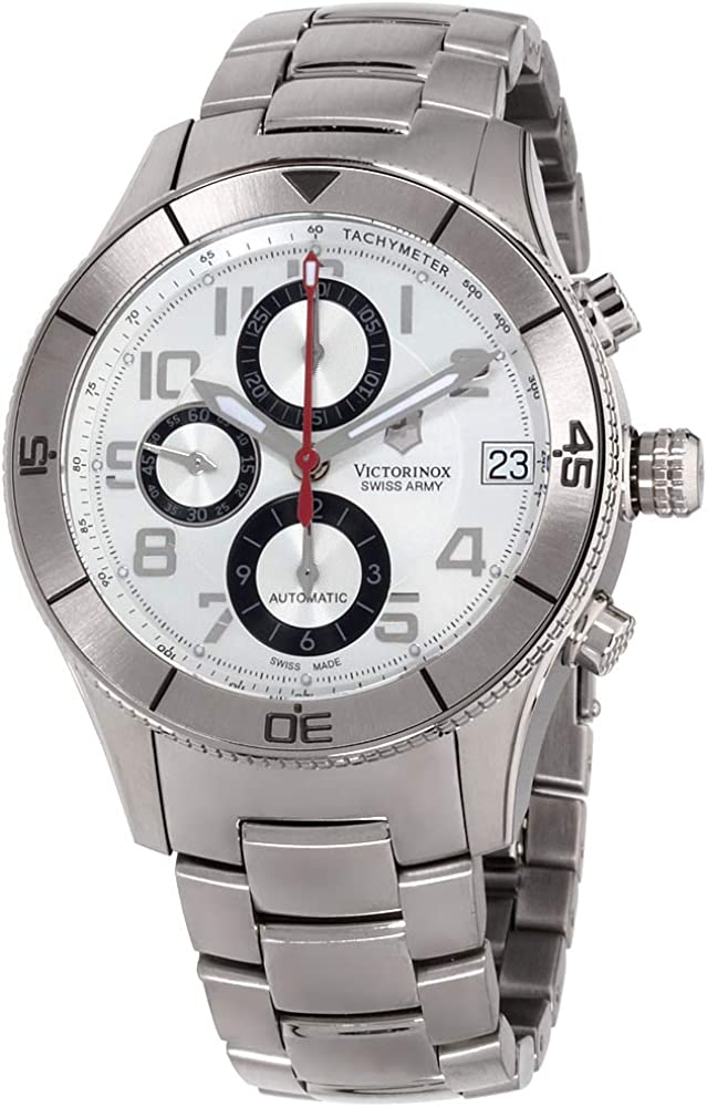 Victorinox Swiss Army Men s 241191 SSC Stainless Steel Automatic Chronograph Watch
