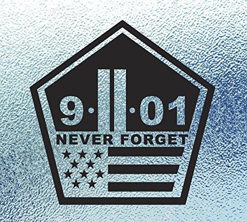 CRDesign World Trade Center Never Forget Black Decal 9/11 NYC New York City Truck Laptop Car Sticker