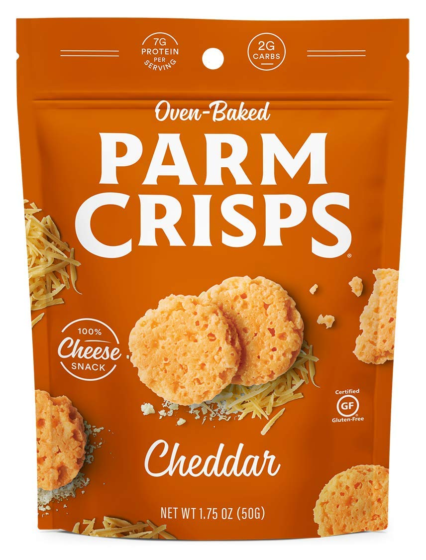 ParmCrisps, Original, 100% Cheese Crisps, Keto Friendly, Gluten Free (Cheddar, 4 Pack)