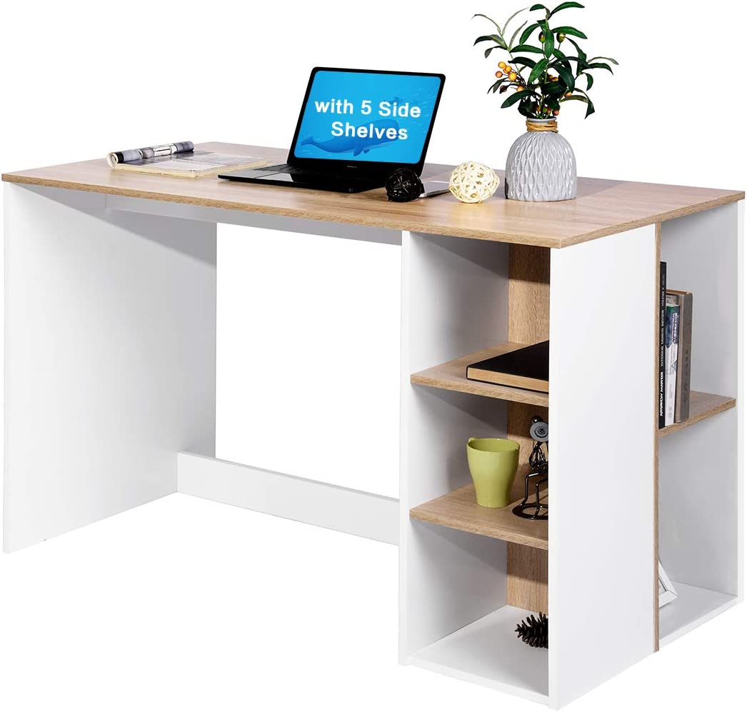 Small Computer Study Student Desk Laptop Table with Shelf Home Office Furniture