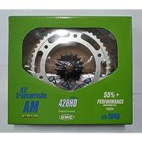 Kit Transmissão Relação Corrente Reforçada HD Titan Fan 150
