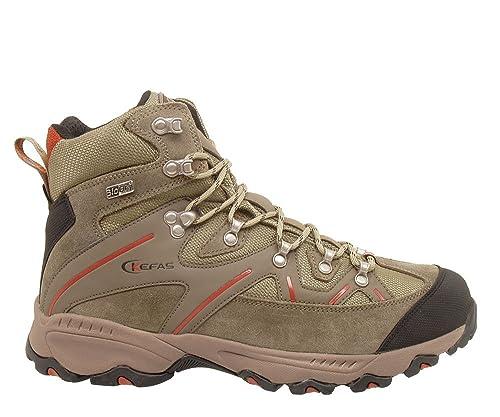 KEFAS - Zapatillas de ante para hombre, color negro, talla 45
