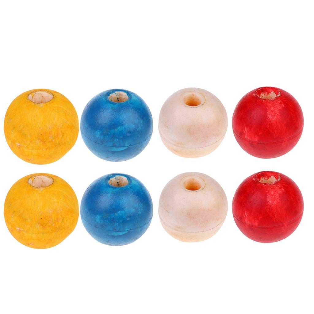 8-Pack Fishing Float Ball, Anchor Floats, Safety Rope Swimming Lane Floating Rope Buoys by Flameer
