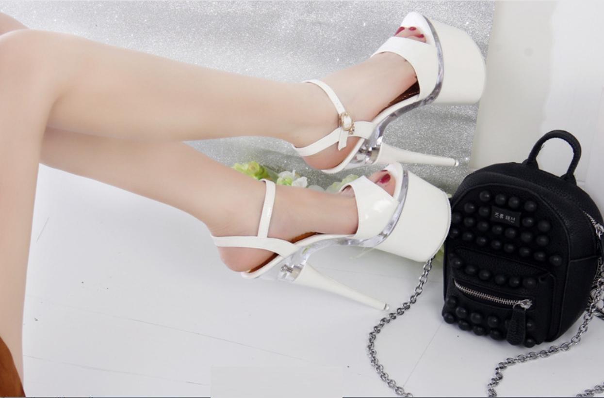 XIONGBAOBAO Z & L Super High Heels Fine Heel Sandalen Frauen