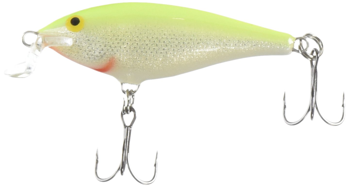 Rapala Shallow Shad Rap 05 Fishing lure, 2.5-Inch, Silver Fluorescent Chartreuse