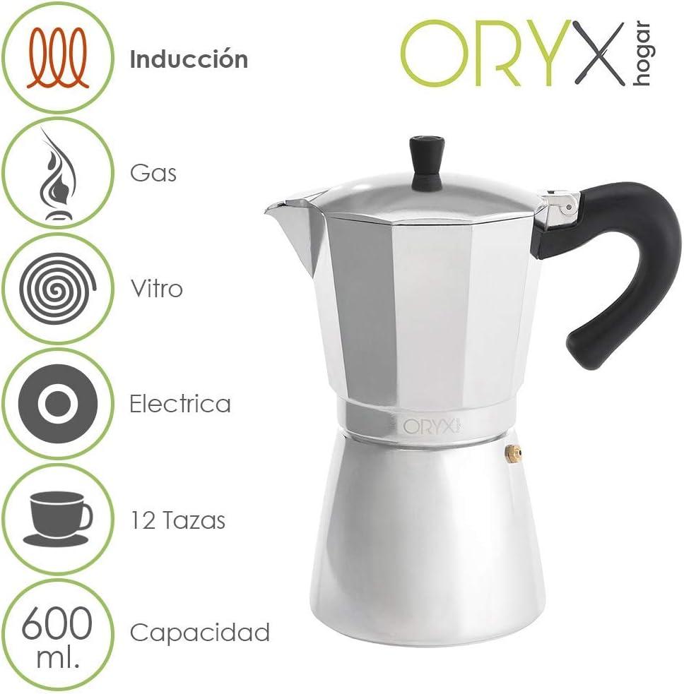 ORYX 5056024 Cafetera Inducción Aluminio 12 Tazas (600 Ml ...