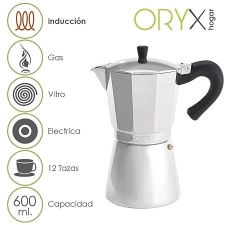 ORYX 5056024 Cafetera Inducción Aluminio 12 Taza, 600 ml: Amazon ...