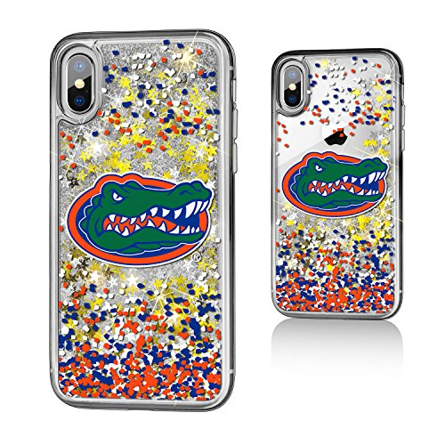 Keyscaper KGLGIX-0FLA-FETTI1 Florida Gators iPhone X/XS Glitter Case with UF Confetti Design