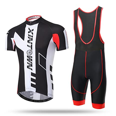 Xintow Men s Cycling Jersey Short Sleeve Shirts 3D Silicone Padded Bib  Shorts Bicycle Bike Outfit Clothing 60dc241d3