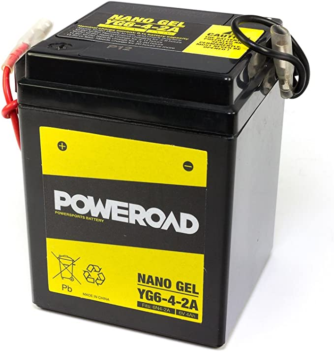 Batterie Gel Poweroad 6n4 2a Für Aprilia H O N D A S U Z U K I Y A M A H A Auto