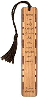 product image for Stephen Hawking Science Quote Engraved Wooden Bookmark with Tassel - Also Available Personalized