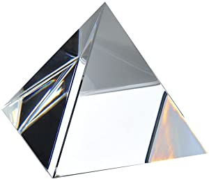 Amlong Crystal Clear Pyramid 2.75 inch High with Gift Box