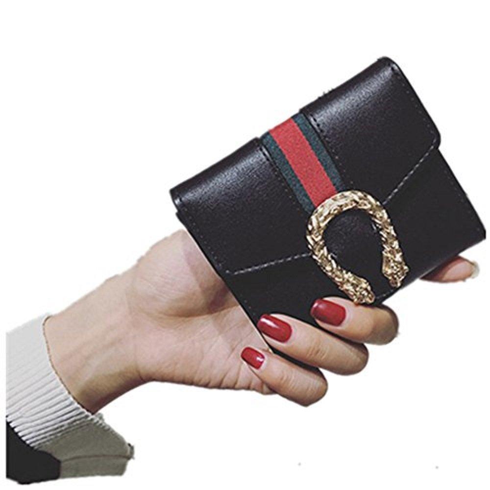 OrangeABC Small Compact Bi-fold PU leather Pocket Wallet