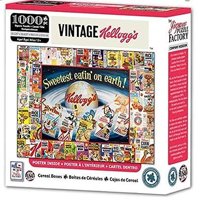 Vintage Cereal Boxes 1000 pc Jigsaw Puzzle Pop Culture Nostalgic: Toys & Games