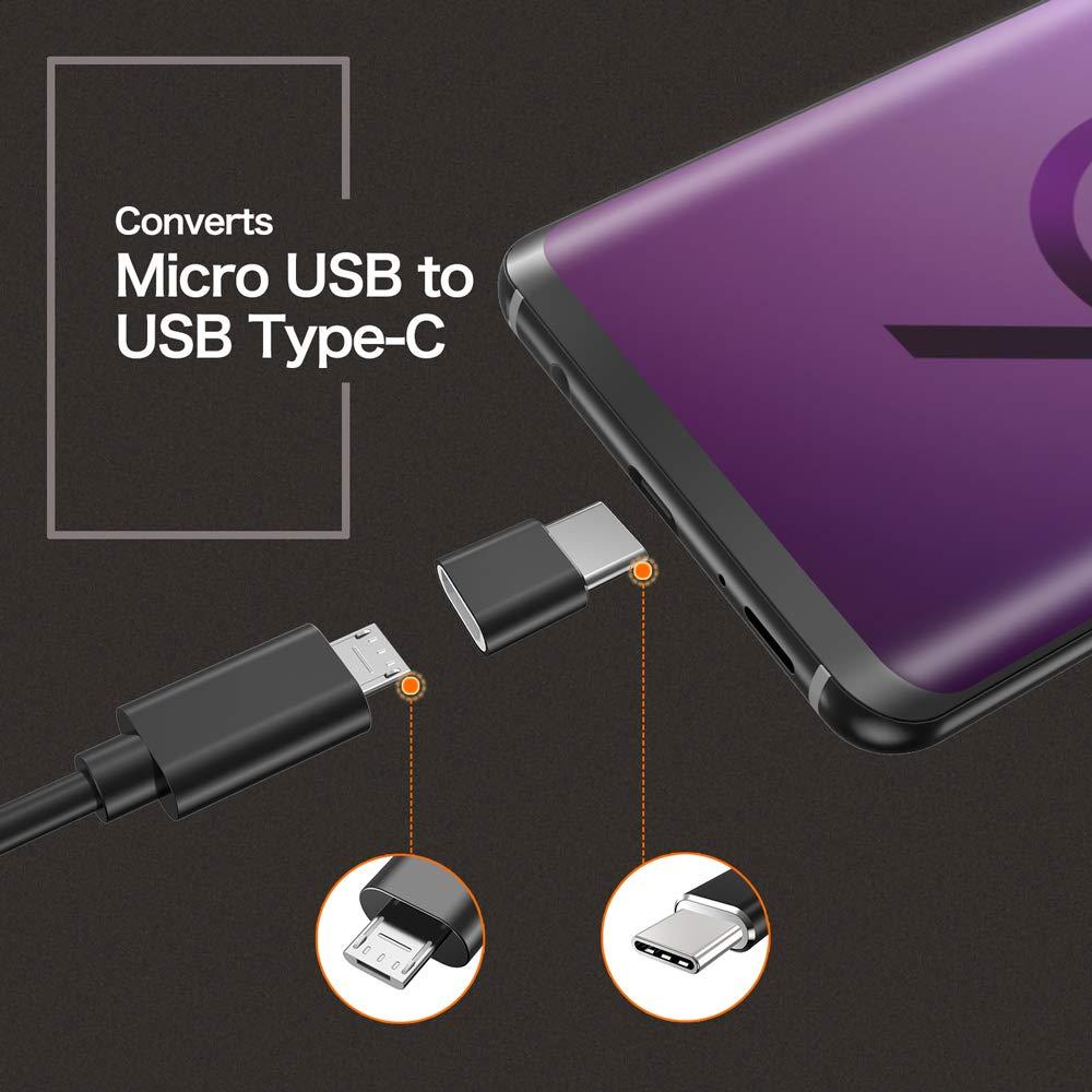Amazon.com: Adaptador USB tipo C, paquete de 4 mini USB C de ...