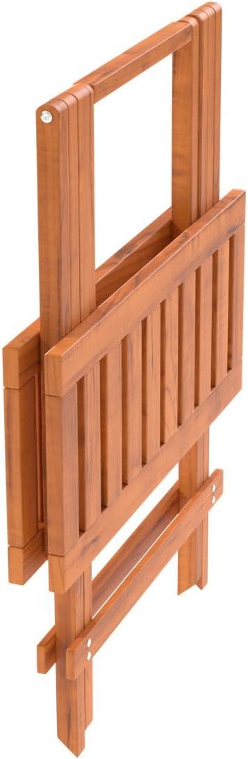 Tavolino da Giardino in larice Siberiano Tavolino dappoggio Piccolo 50 x 50 cm Ampel 24 Tavolino Pieghevole da Giardino Resistente Balcone e terrazza