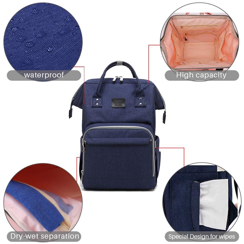Red Blue Green Picaru Mochila cambiador de pa/ñales bolsa de viaje impermeable con clips para cochecito de beb/é 27 x 21 x 44 cm