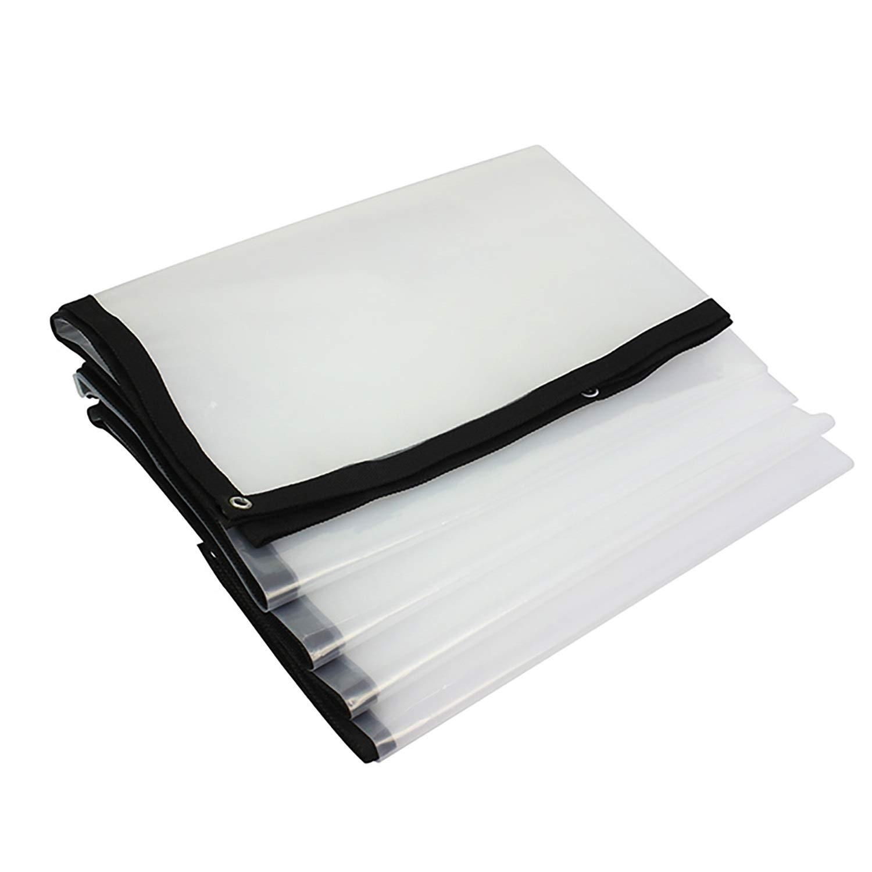 金属のグロメットが付いている防水明確な防水シート、絶縁材のフィルムの絶縁材の絶縁材の屋外のリバーシブルを日除けにする透明な防水シート (色 : トランスペアレント, サイズ さいず : 6x24ft) B07RM953B1 トランスペアレント 6x24ft