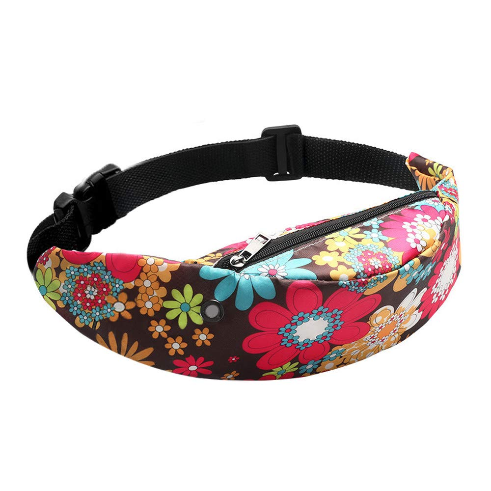 Crossbody Bag for Women Fashion Colorful Waist Waterproof Travel Fanny Pack Pack Belt Bag,Rakkiss