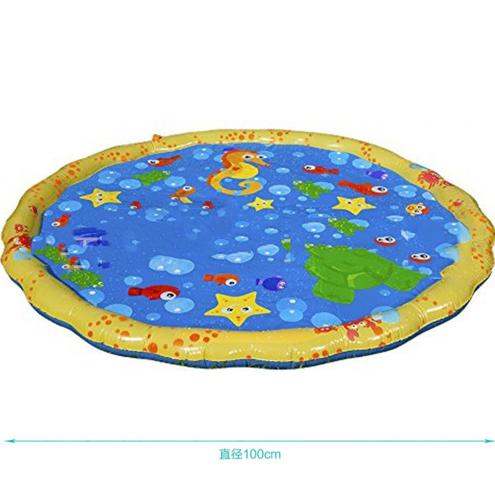 yehhad Water Spray Mat Portable Inflatable Spray Water Cushion Toys Kids Toddlers Children Splash Play Pad for Summer Garden Fun Beach Outdoor Swimming Party by yehhad