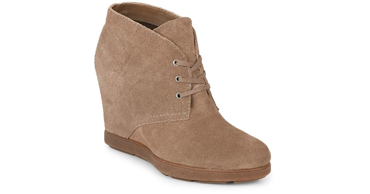 DV By Dolce Vita Pascola Lace Up Wedge Ankle Boots, Taupe Suede - Size 7