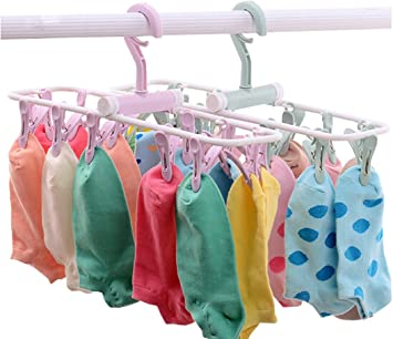 """Household Metal Hanging Clothes Quilt Bed Sheet Clips Clamp Blue 12/"""" Length"""
