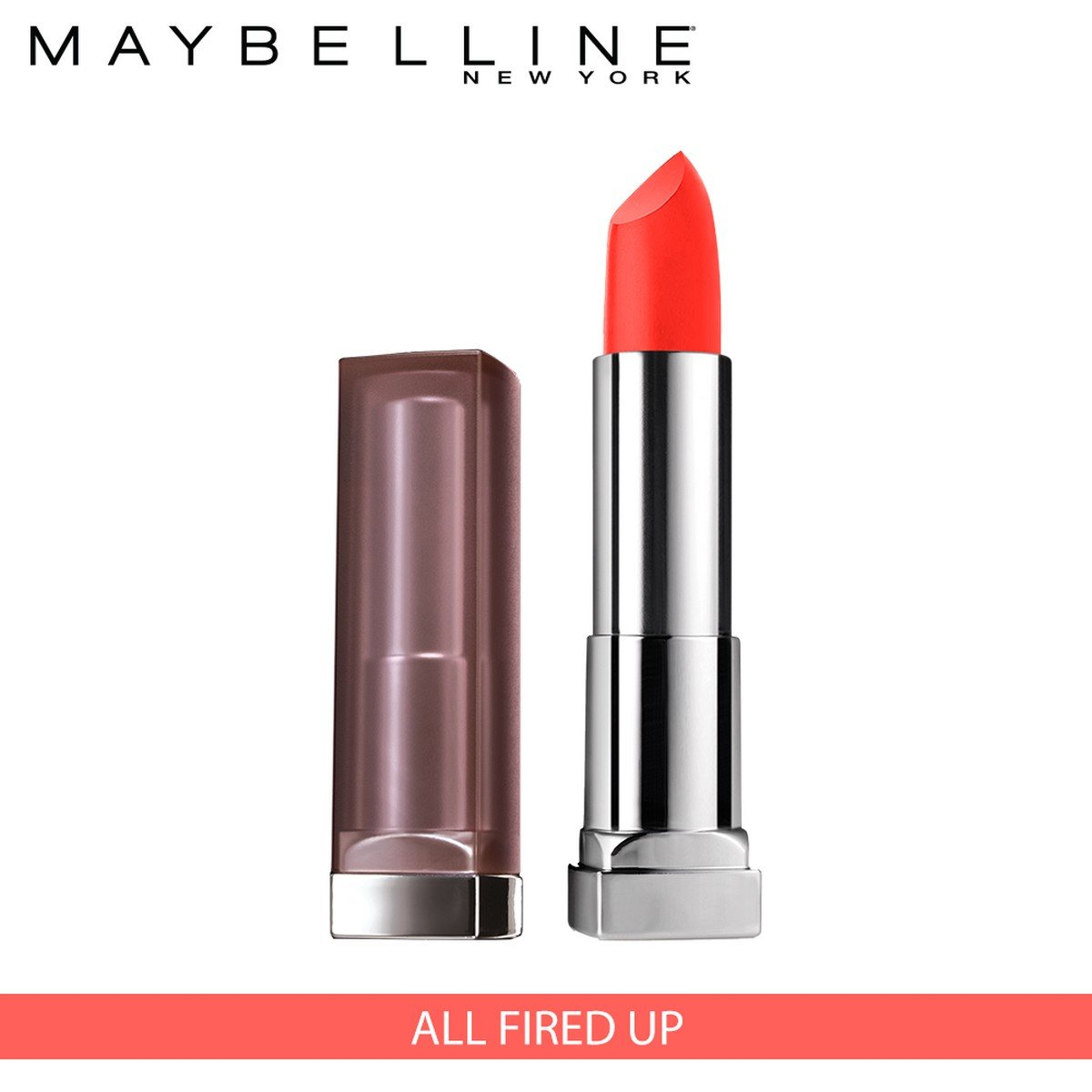269b5c9fdc3 Amazon.com : Maybelline New York Color Sensational Creamy Matte Lipstick,  All Fired Up, 0.15 oz. : Beauty