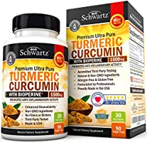 Turmeric Curcumin with BioPerine 1500mg. Highest Potency Available. Premium Pain Relief & Joint Support with 95...