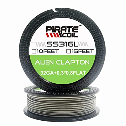 SS316L Alien 28Gx20G flat +32G 15ft Electronic Stainless Steel Wire