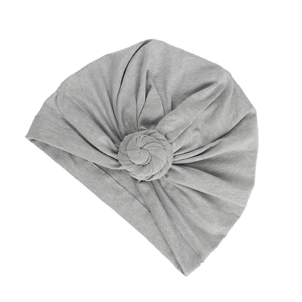 Miaomiaogo Baby Cotton Cloth Turban Toddler Hat Hospital Hat Kids Children Head Cap Knot Solid Headwear Wrap