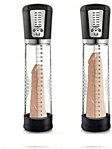 NASHATA Men's Pênīs Enlarger Extender Pump Penǐsgrowth Pēnǐssleeves èxtenders, 5 Suction Power Automatic Pênīs Vacuum Pump Male Training Tool777-black