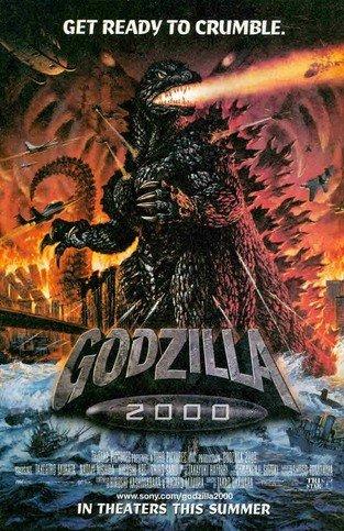 Godzilla 2000: Get ready to Crumble with a UFO: Great Original Print Ad! (Godzilla 2000 Poster compare prices)