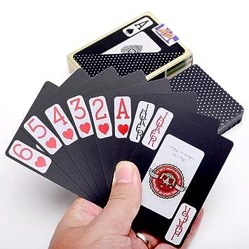 RDJM Baraja de Cartas de póker Impermeables con 54 Cartas ...