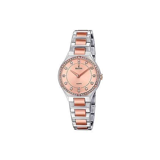 Festina Reloj Análogo clásico para Mujer de Cuarzo con Correa en Acero Inoxidable F20226/4: Amazon.es: Relojes